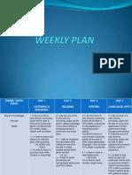 Weekly Plan (Animal)