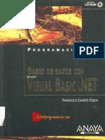 Programacion Bases de Datos Con Visual . NET