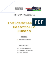 Indicadores de Desarrollo Humano