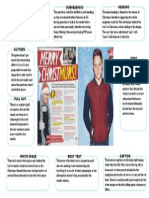 pop genre magazine double page spread analysis 2