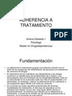 Adherencia Al TTo. Jimena K.