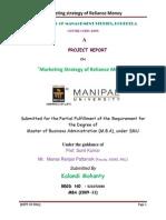Marketing Strategic on Reliance Money
