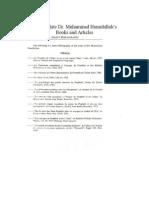 Bibliography Mohamed Hamidullah