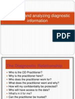 Collecting & Analysing Diag.informn