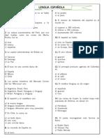 Preguntas Lengua Española