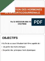 Exploration Des Hormones de La Corticossurenale
