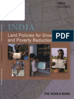 India. land Policies for Growth and Poverty Reduction