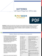 Batteries Patent Search and Analysis Report