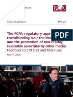 FCA Proposed Crowdfunding Rules