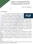 Modelo de gestão e protagonismo dos usuários na implementação do SUAS