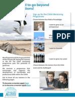 Mentoring Programme Leaflet