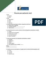 Encuesta para aplicación móvil Vigotsky