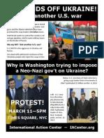 U.S. Hands Off Ukraine flyer