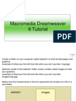 Dreamweaver 8 tutorialmweaver 8