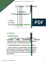 EVP2012 - RED - M�dulo 4 - O Texto Dissertativo 2 (Tema e T�tulo)