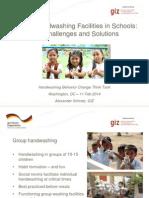 Group Handwashing Facilities in Schools