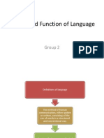 Nature and Function of Language