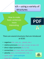 gcse french  complex structures 1