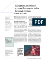 8.Trial Dentures, Insertion of Processed Dentures and Review of Complete Dentures
