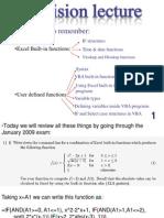 Revision Excel VBA