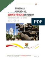 ALTERNATIVAS PARA LA RECUPERACION DEL ESPACIO PUBLICO EN EL CENTRO (y Sub Centros) DE PEREIRA, 2013-2018 (1).pdf