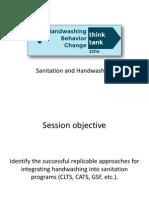 Sanitation and Handwashing