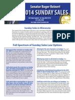 2014 Sunday Sales One Sheet