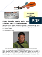 Chico Paraíba exalta gols, mas já foca no próximo jogo da Queimadense
