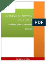 Informe de Gestion 2012 - 2014 24 de Enero 2014