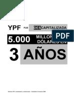 Informe sobre el vaciamiento de YPF