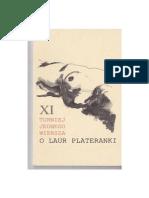 XI Turniej Jednego Wiersza o Laur Plateranki. Tomik finałowy (wersja PDF)