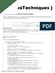 JavaTechniques » DateFormat and SimpleDateFormat Examples