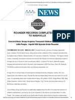 Rounder Records Completes Move to Nashvilleord Jazz News