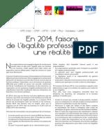 2014 - Communique Commun Egalite Pro