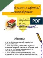 111352165 Pronumele Posesiv Si Adjectivul Pronominal Posesiv