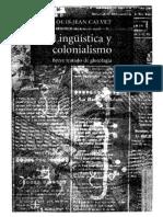 Calvet, Louis-Jean. Lengua y liberación nacional, en Lingüística y colonialismo