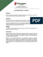 E.P.-ES-01 DEMOLICIÓN DE MAMPOSTERIA - CONCRETO