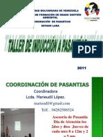 Taller de Induccion de Pasantias en La Ubv