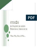 Mayfield STEM2M Board Presentation