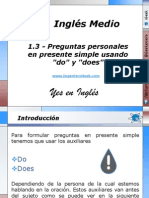 1.3 - Preguntas personales en presente simple usando do y does.pptx