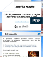 1.5 - El presente continuo y reglas del verbo en gerundio -ing.pptx