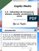 1.4 - Adverbios de frecuencia always, usually, sometimes