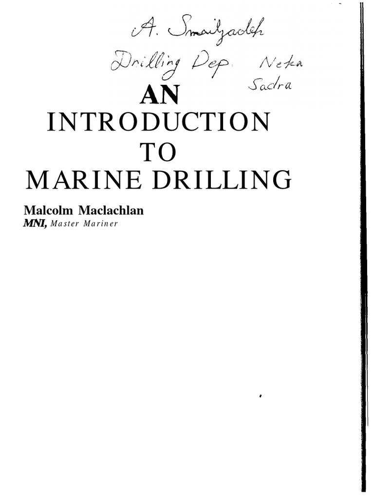 An Introduction to Marine Drilling - Malcolm Maclachlan   Casing
