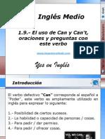 1.9.- El uso de Can y Can't, oraciones y preguntas con este verbo.pptx