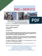 Cotizacion Equipos de Seguridad Para El Dr. MARCOS MAURY. PEREIRA. de ING-SERVIC.
