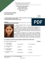 Evaluare Initiala Lb Franceza Cls 6 l1 Test