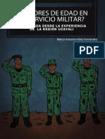 ¿Menores de edad en el servicio militar? Una mirada desde la experiencia de la región Ucayali