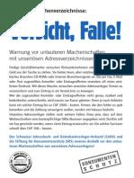 SADV Merkblatt Schwindelverleger
