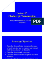 Lecture 15 Cholinergic Transmission