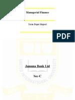Financial Analysis of Jamuna Bank